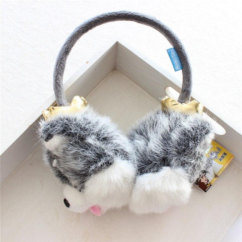 New Arrival Winter Cute Husky Earmuffs Warm Ear Covering Unisex Adult Earmuffs Dopshipping
