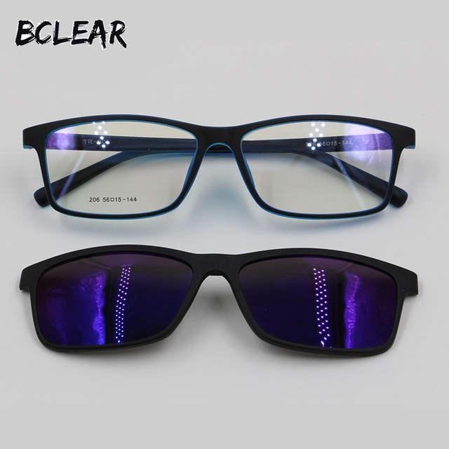 533ac45ae5 ... about BCLEAR TR90 Eyeglass Frame Mirror Polarized Anti Reflective UV400  Sun Lens Clip on Fashion Optical Frame Prescription Sunglasses on  Aliexpress.com ...