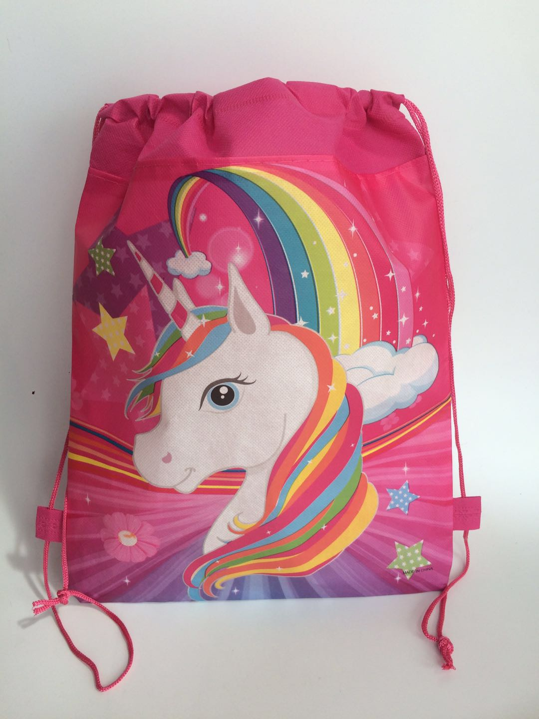 children's zoo animal baby infant unicorn school bag for kids boy and girls unicorn birthday party stuff supplies gifts for baby zoo animal sweetheart backpack toddler pouch non woven string shoe shourlder school bag for boy and girls birthday party gift