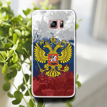 Russian emblem double headed eagle Phone Hard Plastic Case Cover For Samsung Galaxy A3 A5 A7 Note 3 4 5 S5 S6 edge
