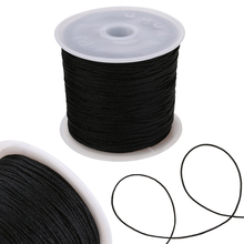 2017 0 8mm 100m spool macrame rope satin rattail nylon cords string kumihimo chinese knot cord diy bracelet jewelry findings Chinese Knot Cord 0.8mm Thread Nylon Cord Soft Macrame Rattail Bracelet Braided String DIY Beading Tassels Decorative Rope