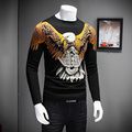 Men Sweater 2016 Winter Pull Homme Fashion Animal Print Pullover Mens O-Neck Slim Fit Casual Knitted Mens Jumpers Factory Direct