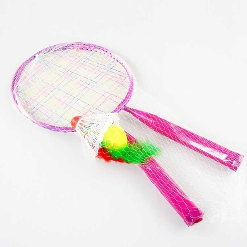 1 Pair Youth Children's Badminton Rackets Sports Cartoon Suit Toy For Children  ZJ55