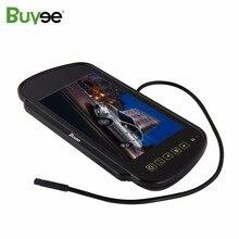 Buyee 7 дюймов TFT ЖК-дисплей HD монитор зеркала автомобиля заднего вида дисплей для парковки обратный заднего вида Авто монитора для камера 2 AV вход