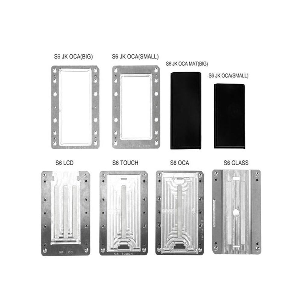 Alignement de précision stratification moule OCA/verre/LCD localisation plastifieuse pour Samsung Surface incurvée S6 S6 + S7 S8 S8 + Note4LCD réparation