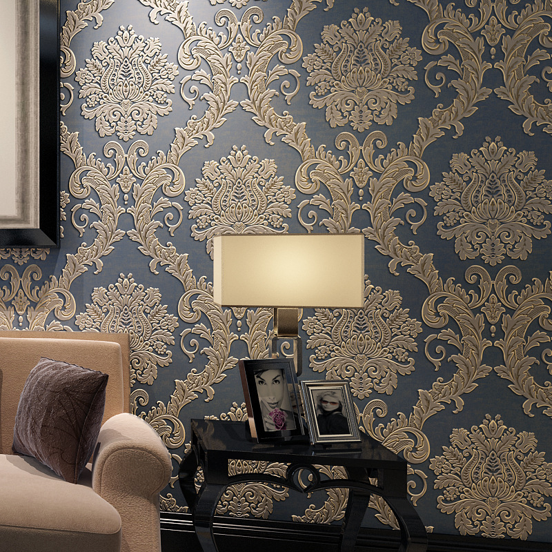 beibehang Emboss Damascus wallpaper for living room wall paper roll papel de parede 3d wallpaper roll background Home Decoration beibehang papel de parede 3d european damascus wallpaper for bedroom living room 3d wall paper roll contact paper tv background