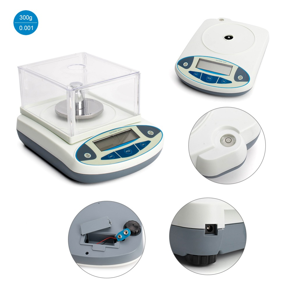 300g 0.001g Electronic Balance Digital Scale Laboratory Weight Scales High Precision Jewelry Gold Gram Analytical LCD Scales300g 0.001g Electronic Balance Digital Scale Laboratory Weight Scales High Precision Jewelry Gold Gram Analytical LCD Scales