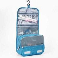 ماء حقيبة ماكياج المرأة المكياج غسل أدوات الزينة حقيبة السفر التجميل مقبض اتسعت الإناث أكياس الصدرية داخلية المنظم حقيبة