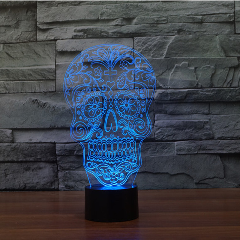 Flower Skull Night light
