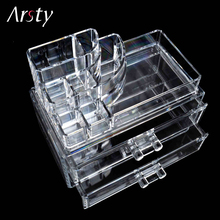 ELERA Clear Acrylic Storage Box Organizer Makeup Tools Holde