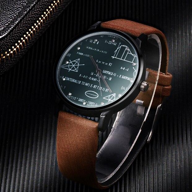 Miler watch leather quartz man
