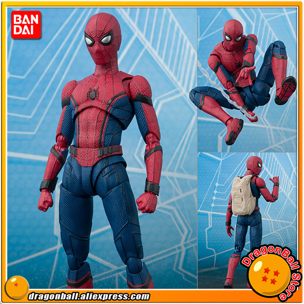 Original BANDAI Tamashii Nations S.H. Figuarts / SHF Action Figure - Spider-Man (Homecoming) & TAMASHII OPTION ACT WALL anime captain america civil war original bandai tamashii nations shf s h figuarts action figure ant man