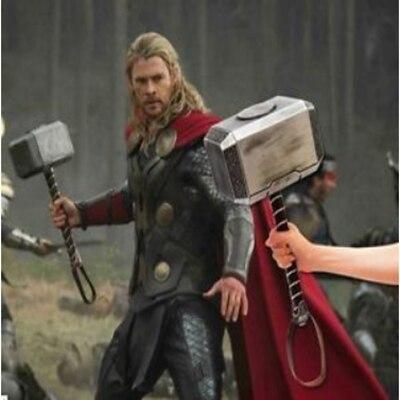 1:1 Avengers Thor marteau marteau de Thor Cosplay scène résine solide 1:1 taille jouet cadeau livraison directe