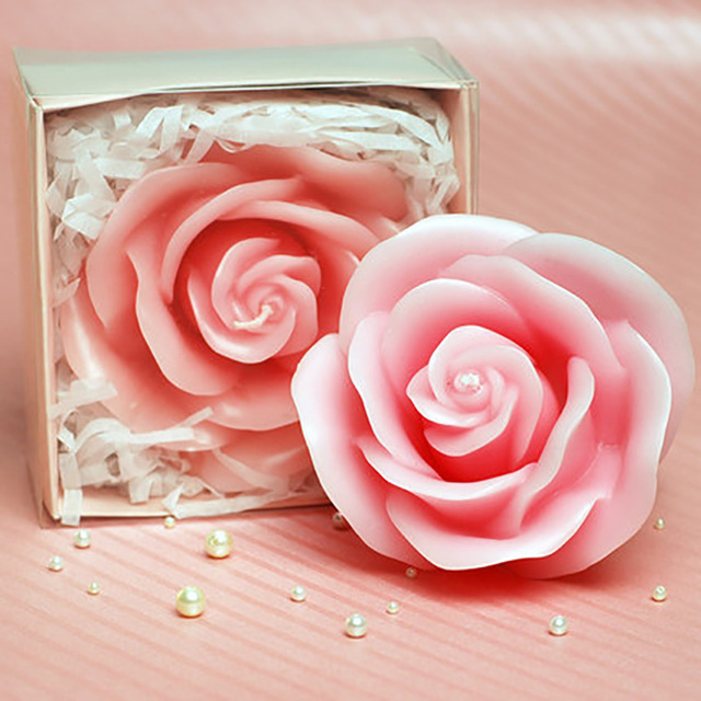 Birthday Candle Rose Flower Candle Cake Topper Birthday Cake Decorative  Scented Valentineu0027s Day Wedding Decoration Supplies