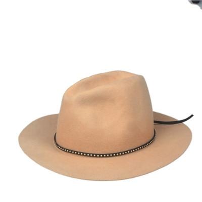 Шерсть для женщин и мужчин Осенняя зимняя фетровая шляпа фетровая Панамка Дерби мягкая фетровая шляпа Головной убор широкополый - Цвет: Khaki