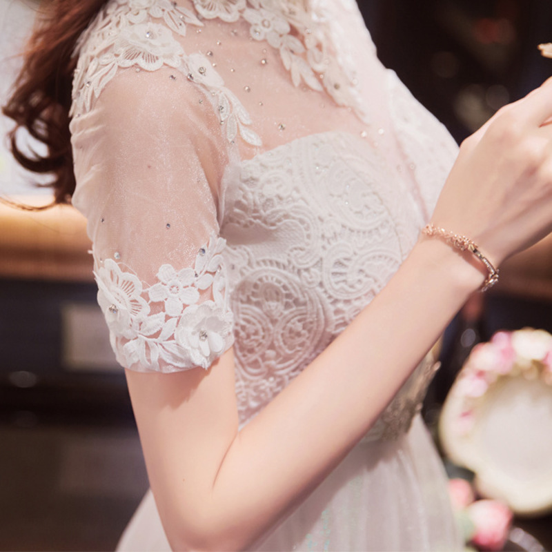 Moderno Chino Qi Pao Vestido Blanco Mujeres Phoenix Bordado Boda de ...