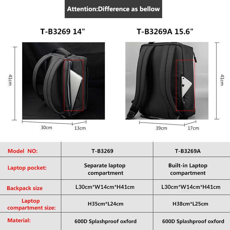 """Tigernu бренд USB зарядка Мужской рюкзак Anti theft Mochila 1415 """"ноутбук деловой рюкзак для мужчин женщин школьная сумка"""