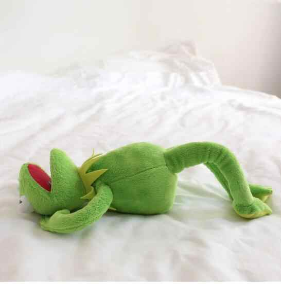 Плюшевая лягушка 40 см, милая мягкая игрушка Кермит, лягушка, подарки на день рождения, игрушка для шоу, игрушка Тедди BNWT, подарок для малышей, подарок на Рождество, куклы