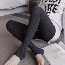 724# тонкие трикотажные Колготки для беременных Колготки Осень Корейская мода Одежда для беременных женщин Колготки для беременных