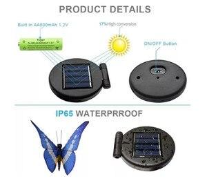 Image 4 - 3 個の led ソーラーライト太陽光発電 энергетик ソーラーマルチカラー光ファイババタフライ Led ステークライト屋外ガーデン D