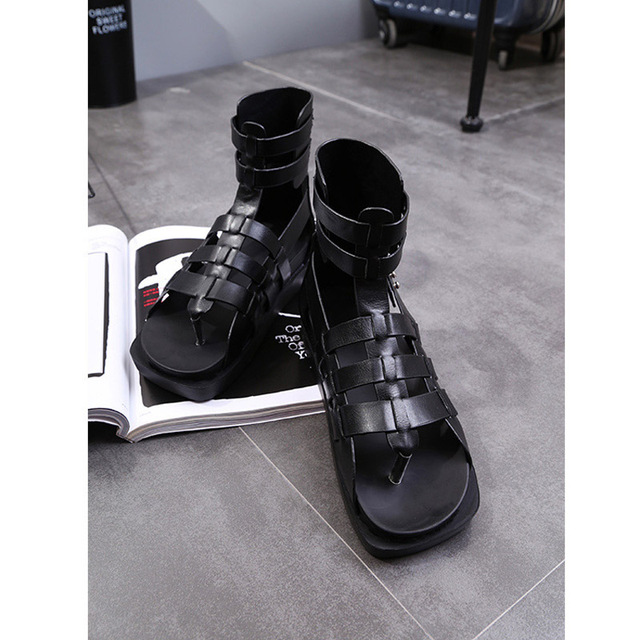 53ad8bb75 2017 New Arrival Summer Fashion Women Casual White Shoes Platform Black Lady  Leisure Sandals Gladiator Soft