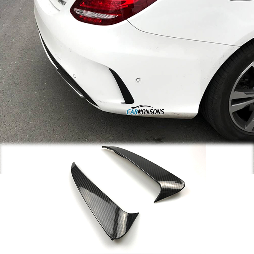 Carmonsons for Mercedes Benz C Class W205 Sedan Sport 4 Doors Rear Bumper Air Vent Cover Fender Stickers Accessories Car Styling car rear trunk security shield cargo cover for mercedes benz ml class w164 ml300 ml350 ml500 2006 2012 high qualit accessories