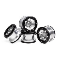4Pcs 2.2 Inch Metal Beadlock Wheel Rim / Hub for 1/10 RC Rock Crawler Axial SCX10 RR10 90053 AX10 Wraith 90056 90045 YETI 90026 3