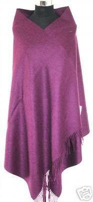 Зима Горячие Черный Для женщин шерстяная накидка Кашемир пашмины сплошной Цвет шарф шаль негабаритных 180*72 см - Цвет: purple