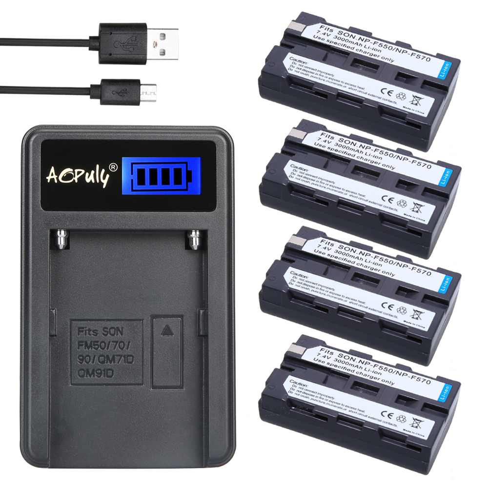 Hot 4x batteries NP-F550 NP F550 +LCD USB Charger for Sony CCD-TR940 CCD-TRV3 CCD-TR3300 CCD-SC55 CCD-TRV81 DCR-TRV210 MVC-FD81 np f960 f970 6600mah battery for np f930 f950 f330 f550 f570 f750 f770 sony camera