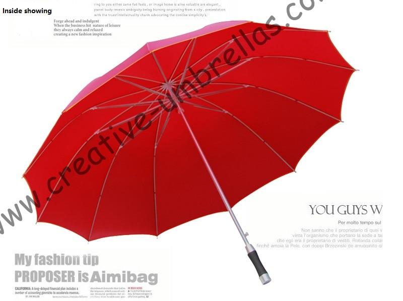 12ribs 134cm otvoreni promjer legure ravno poslovne povucite proljeće kišobrani.14mm aluminijska osovina i rebra od stakloplastike, anti - grmljavina