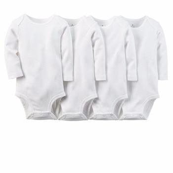 White Cotton Unisex Romper 5pcs/set Pure