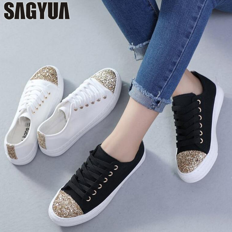 Womens Lady Fashion Spring Autumn Female Casual Soft Comfort Lace Up Low Shallow Basic Zapatos Plimsolls Flat Canvas Shoes T588