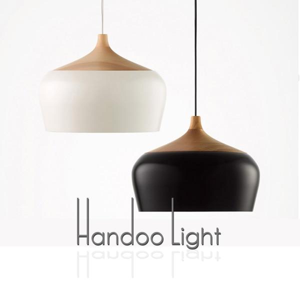 Promjer 30cm Češnjak oblik Drvo i aluminij Privjesak svjetlo - Unutarnja rasvjeta - Foto 2