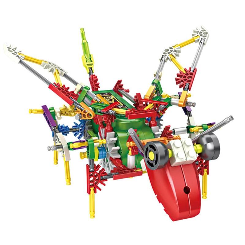 LOZ Lowest Price Creative DIY locust Electric Motor Robots Model Motor Building Blocks Sets Bricks Mobile Bricks Educational Toy