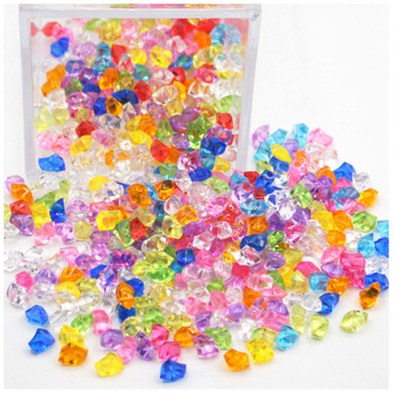 200PCS/Lot 6*9*5mm Acrylic Crystal Diamond Pawn Irregular Stone Chessman Game Pieces For Board Games Accessories 18 Colors