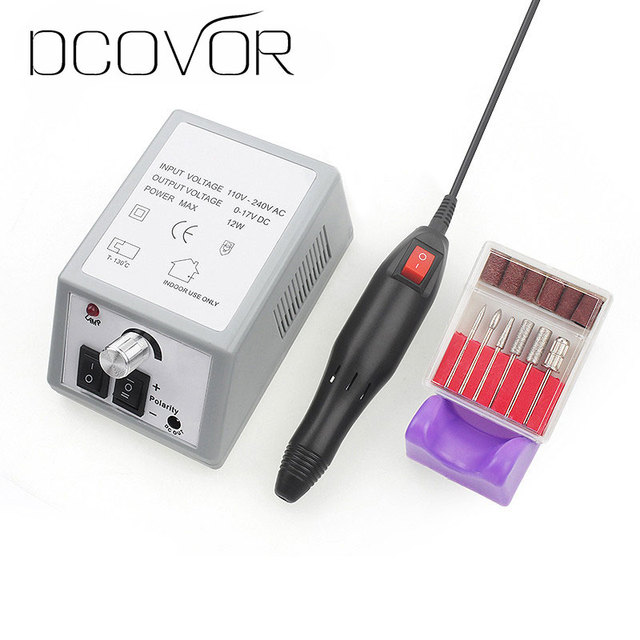 Professional Electric Nail Drill Manicure Machine with Drills 6 Bits ...