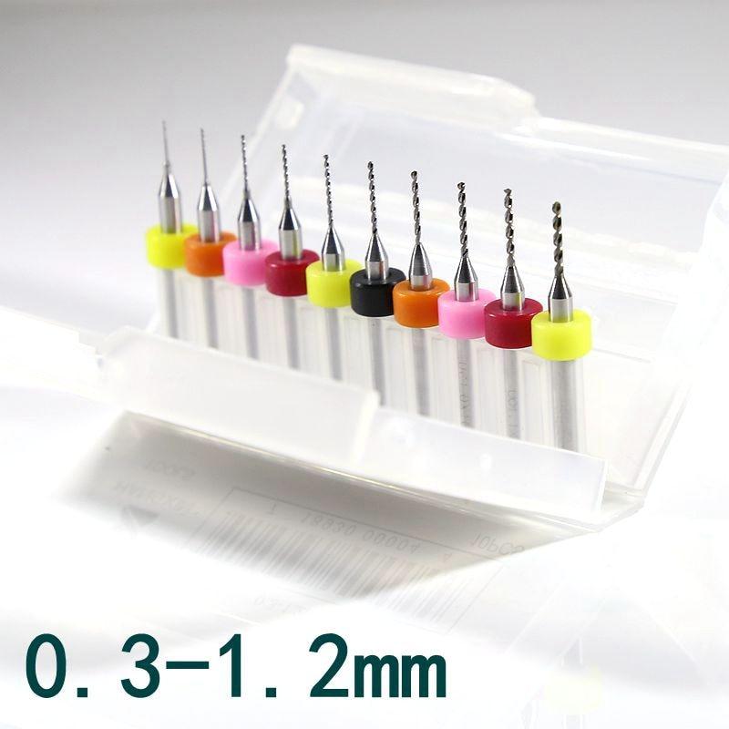 10pcs 2.3mm Solid Carbide PCB Print Circuit Board Drill Bit CNC Mini Drill Bits