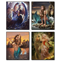 6Style Diamond Embroidery Girl Offer Landscape Cross Stitch Kit Needlework Kits Painting Square