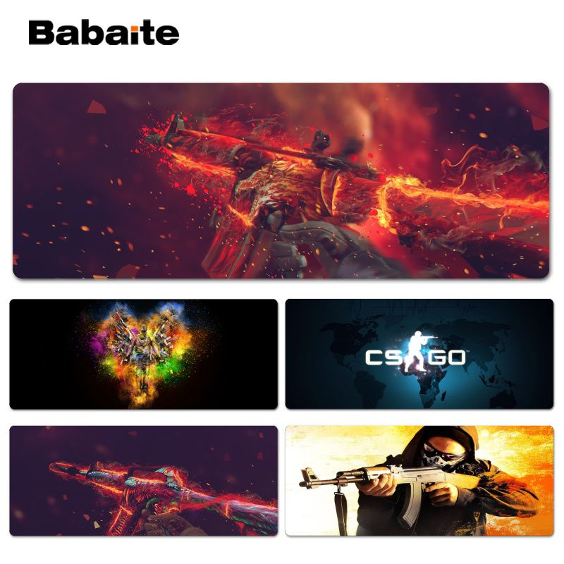 Babaite New Design CS go Customized laptop Gaming Lockedge mouse pad Size for 30x60cm 30x90cm Speed Mouse Pad