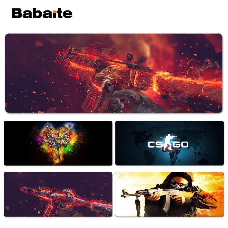 Babaite Nouveau Design CS go Personnalisé ordinateur portable Gaming Lockedge souris pad Taille pour 30x60 cm 30x90 cm Vitesse Souris Pad