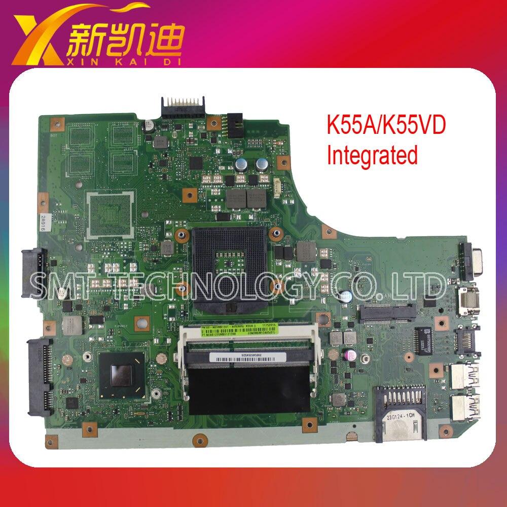 For ASUS K55A K55VD laptop motherboard REV3.1 60-N89MB1300-B02 DDR3 SLJ8E HM76 PGA989 mainboard Original