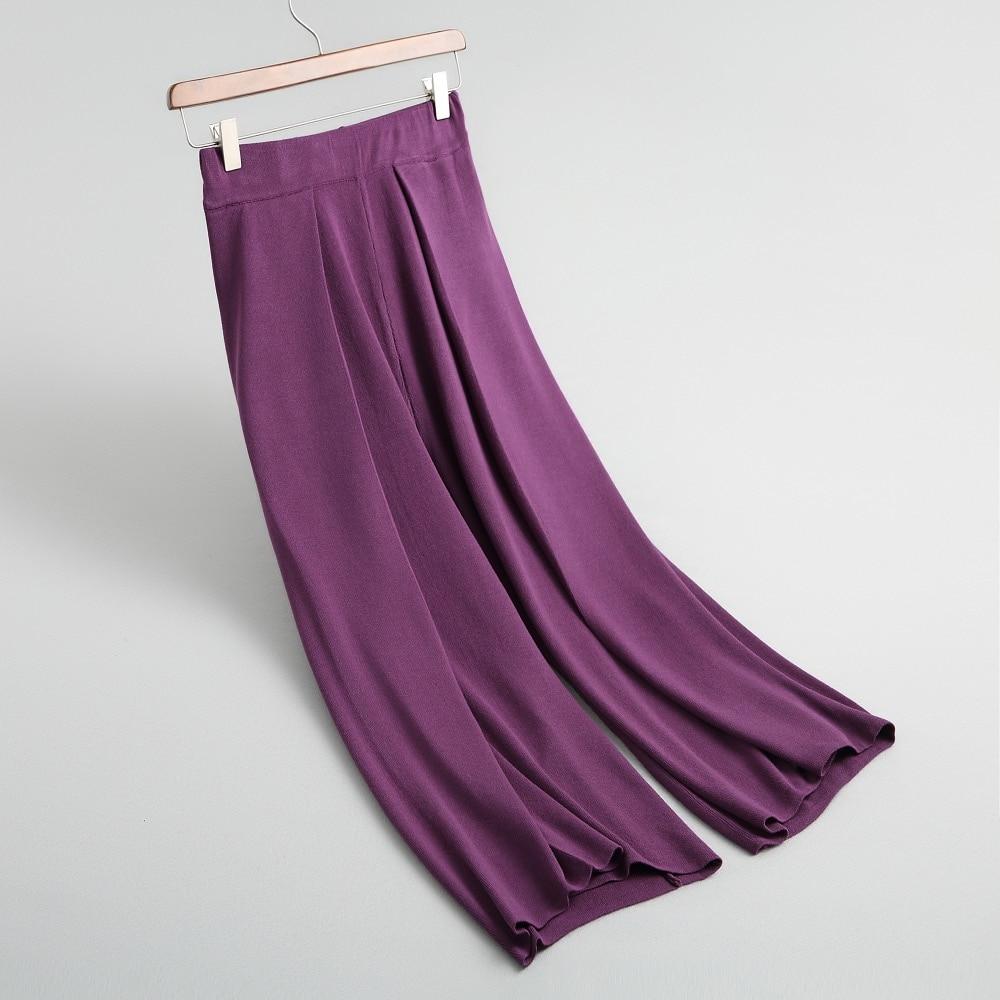 Fincati Todo Sólidos Base Punto negro Otoño Beige Cintura Mujer 2018 gris púrpura Cálido Invierno Pantalones Señora Estilo fósforo Elástica De Colores Oficina zwfqXtt