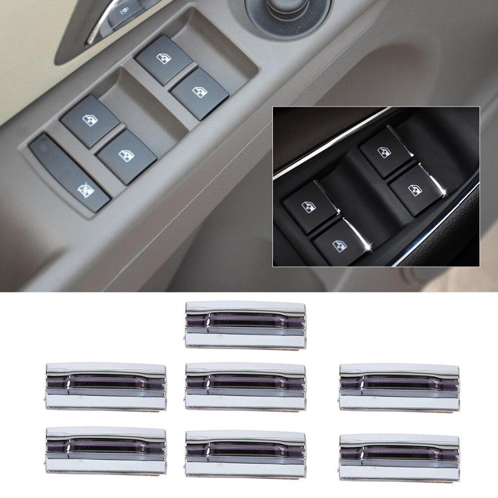 Beler 7 Pcs Chrome Porte Fenêtre Commutateur Ascenseur Bouton Cover Version Pour 2009 2010-2014 Chevrolet Cruze 2012 2013 2014 Chevrolet Malibu