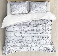 Современные Набор пододеяльников для пуховых одеял набор школа Genius SM Книги по искусству студент Математика Геометрия науки номера formules изо