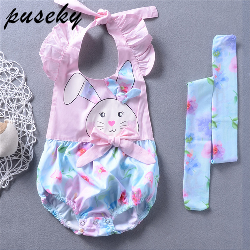 UK Newborn Baby Girl Infant Clothes Romper Top Floral Print Pants Overall Outfit