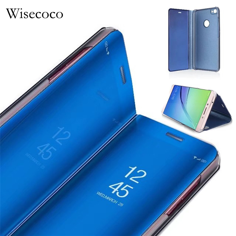 Luxury Flip Stand Touch Case For Xiaomi Redmi 5 Plus Leather Clear Smart View Phone Cases For Mi Redmi Note 5A Pro Prime Cover