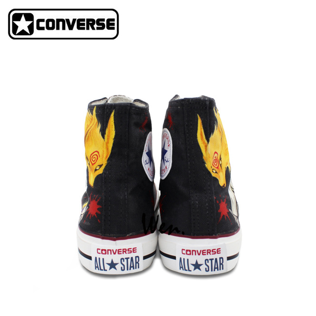 d3841f384db4 Anime Shoes for Men Women Naruto Uchiha Sasuke Design Hand Painted Sneaker