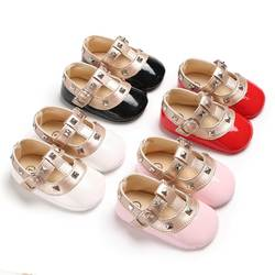 Puseky для новорожденных Для маленьких принцесс для девочек Bebe мягкая подошва Нескользящая обувь кожаные первые ходунки обувь Мокасины Обувь