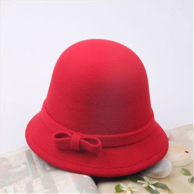 Autumn winter children cap woolen hats baby girls boys hat fashion bow dome cap fisherman hats retro felt hat xuyijun berser new fashion pu black baseball cap women s hats for men fall leather cap trucker cap snapback winter hats bones