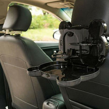 Assento de carro traseiro multi função copo de água titular plástico branco criativo copo de armazenamento de carro rack